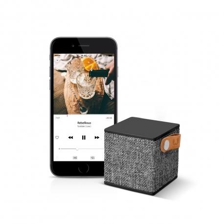 Fresh'N Rebel altavoz Bluetooth Rockbox Cube Fabric Edition Concrete