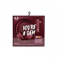 Fresh'N Rebel pack Caps Headphones + Rockbox Cube + Power Bank 3000 mAh Ruby