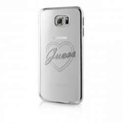 Guess funda Samsung Galaxy S7 Signature transparente/plata