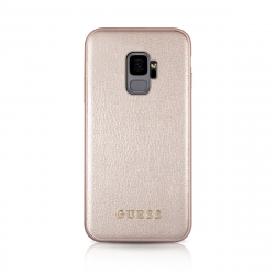 Guess carcasa Samsung Galaxy S9 Iridiscent oro rosa