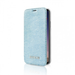 Guess funda Apple iPhone Xs/X Folio Piton azul
