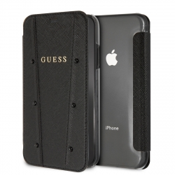 Guess funda Kaia Apple iPhone XR transparente y negra