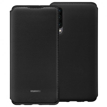Huawei funda Huawei P30 flip wallet negra
