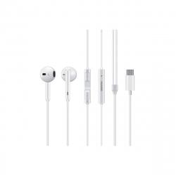 Huawei auricular estéreo Tipo C con micrófono blanco
