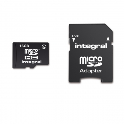 Integral Memory tarjeta memoria microSD HC 16GB clase 10
