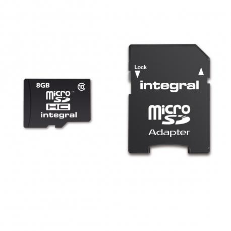 Integral Memory tarjeta memoria microSD HC 8GB clase 10