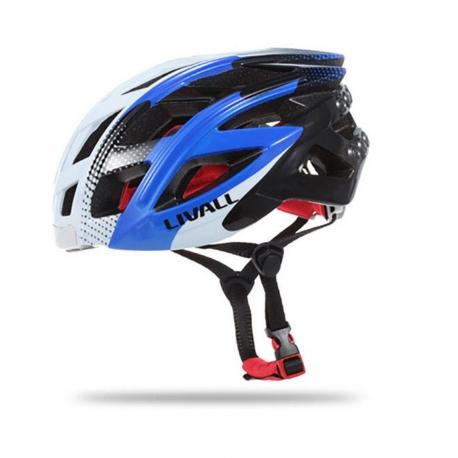 Livall casco inteligente para bici (luz,intermitentes,manos libres,reproductor,aviso de Caida) y mando multifunción azul