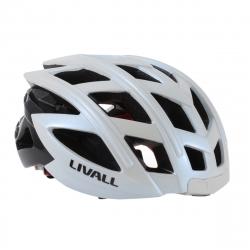 Livall casco inteligente para bici (luz,intermitentes,manos libres,reproductor,aviso de Caida) y mando multifunc. blanco