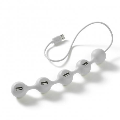 Lexon USB Hub con 4 puertos de carga blanco