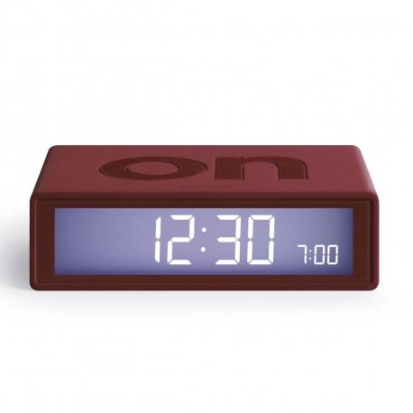 Lexon Flip color Reloj despertador LCD granate