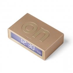 Lexon Flip mineral Reloj despertador LCD gold