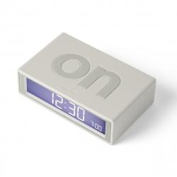 Lexon Flip color Reloj despertador LCD gris claro