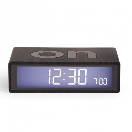 Lexon Flip marble Reloj despertador LCD madera