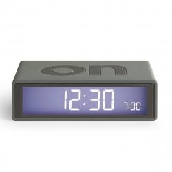 Lexon Flip color Reloj despertador LCD gris oscuro