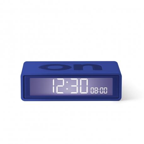 Lexon Flip travel Reloj despertador LCD azul