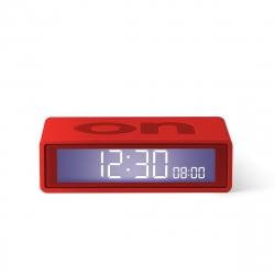 Lexon Flip travel Reloj despertador LCD rojo