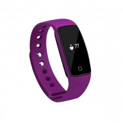 muvit iO pulsera de actividad y sueño con pulsómetro Keep Fit lila
