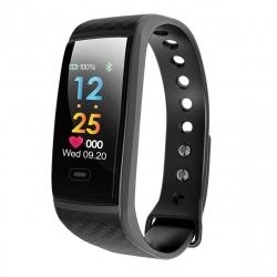 muvit iO pulsera de actividad y sueño pantalla color Health Tensio negra