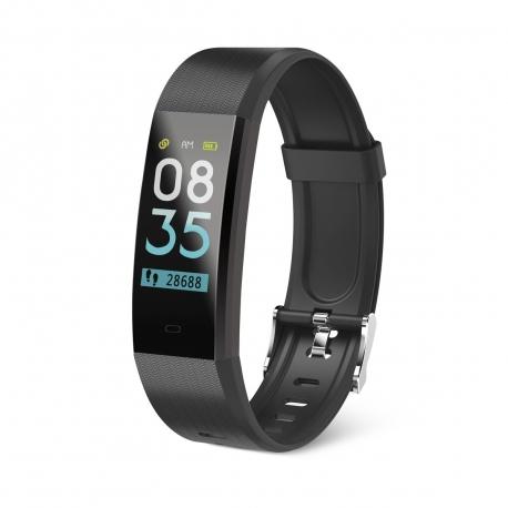 muvit iO pulsera de actividad y sueño Health Tensio Lite negro