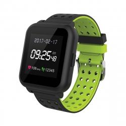muvit iO reloj de actividad y sueño Trendy negro/verde