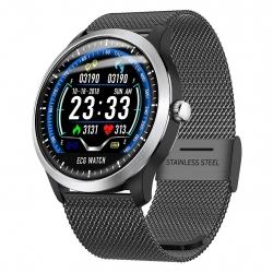 Muvit iO Reloj de Actividad y Salud LUXE ELECTRO negro 2 correas (aluminio & silicona)