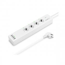 muvit iO Regleta inteligente Wifi blanca con 4 tomas de corriente y 4 puertos USB