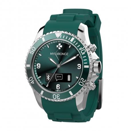 Mykronoz reloj analógico de actividad y sueño con notificaciones ZeClock verde