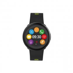 MyKronoz Zeround 2 reloj de actividad y sueño con notificaciones, pantalla táctil negro/amarillo