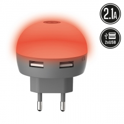 muvit Life transformador USB 2.1A Diode rojo