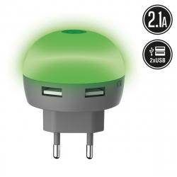 muvit Life transformador USB 2.1A Diode verde