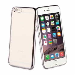 muvit Life funda Apple iPhone 6S/6 Bling transparente marco negro