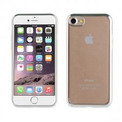 muvit Life funda Apple iPhone SE/8/7 Bling transparente marco plata