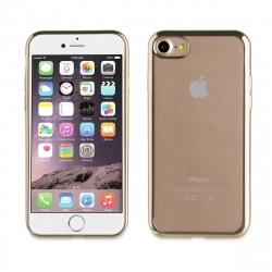 muvit Life funda Apple iPhone 8/7 Bling transparente marco dorado