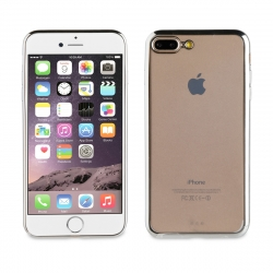 muvit Life funda Apple iPhone 8 Plus/7 Plus Bling transparente marco plata