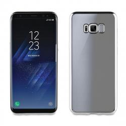 muvit Life funda Samsung Galaxy S8 Plus Bling transparente marco plata