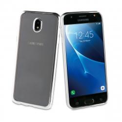 muvit Life funda Samsung Galaxy J7 2017 Bling transparente marco plata