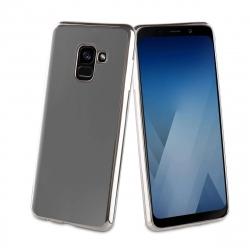 muvit Life funda Samsung Galaxy A8 2018 Bling transparente marco plata