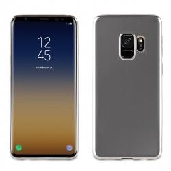 muvit Life funda Samsung Galaxy S9 Bling transparente marco plata