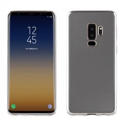 muvit Life funda Samsung Galaxy S9 Plus Bling transparente marco plata