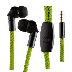 muvit Life auriculares estéreo 3.5mm con micrófono Lace verde