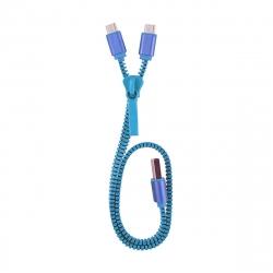 muvit Life cable USB-Micro USB Dual (solo carga) 1A 0,35m Zip azul
