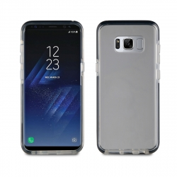 muvit Pro funda Cristal Soft Bump Samsung Galaxy S8 shockproof transparente + borde negro