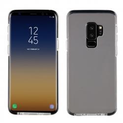muvit Pro funda Cristal Soft Bump Samsung Galaxy S9 Plus shockproof transparente + borde negro