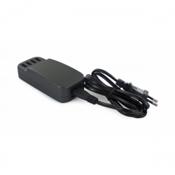 muvit transformador 4 USB 6.8A con cable extraíble negro