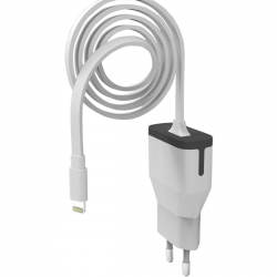muvit transformador Apple Lightning MFI 2.4A cable 1m blanco