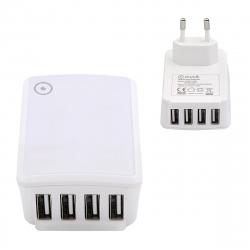 muvit transformador 4 USB 5A 25W carga inteligente blanco