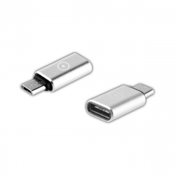 muvit adaptador Tipo C a Micro USB plata