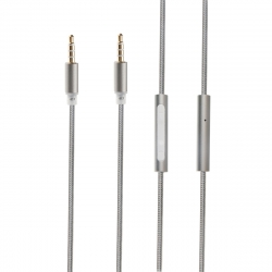 muvit cable audio con micrófono 3.5mm/3.5mm 1,5m gris