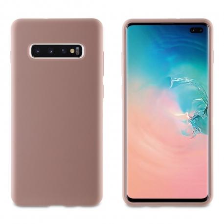muvit carcasa Samsung Galaxy S10 Plus Liquid Edition Pink Sand