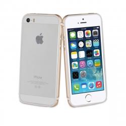 muvit funda Bumper Apple iPhone SE/5S/5 aluminio + nanofilm trasero dorado